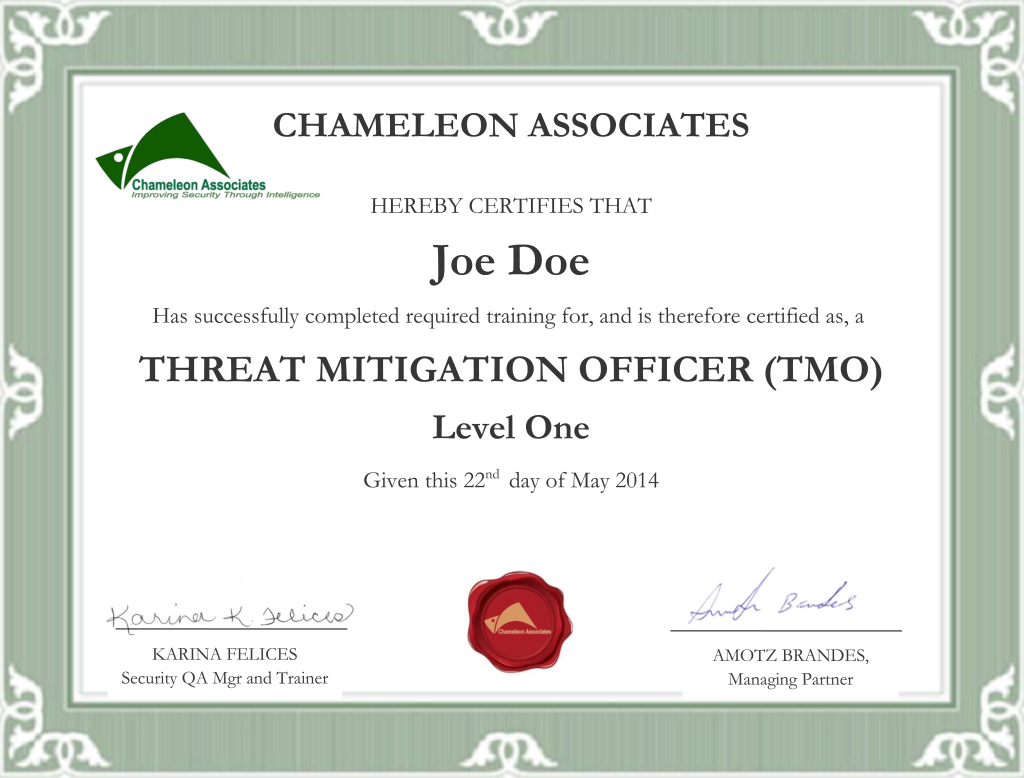 Security officer certification by chameleon associates - Security officer training online ...