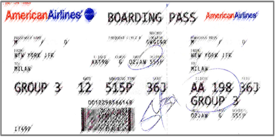 Travel Security Boarding Pass