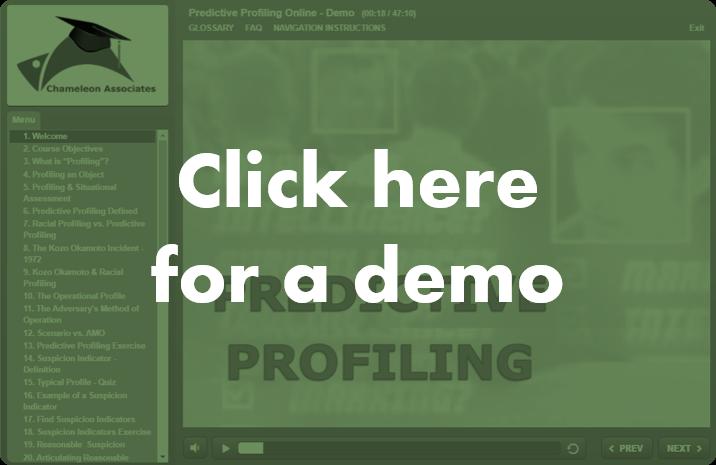 Predictive Profiling Online Course By Chameleon Associates