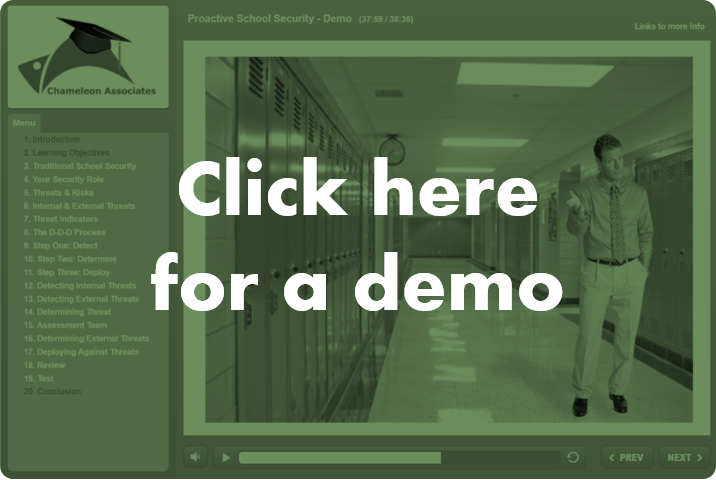 School Security Online Course By Chameleon Associates Demo