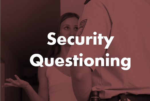 Security Questioning Online Course By Chameleon Associates