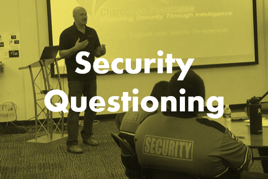 Security Questioning Seminar By chameleon Associates