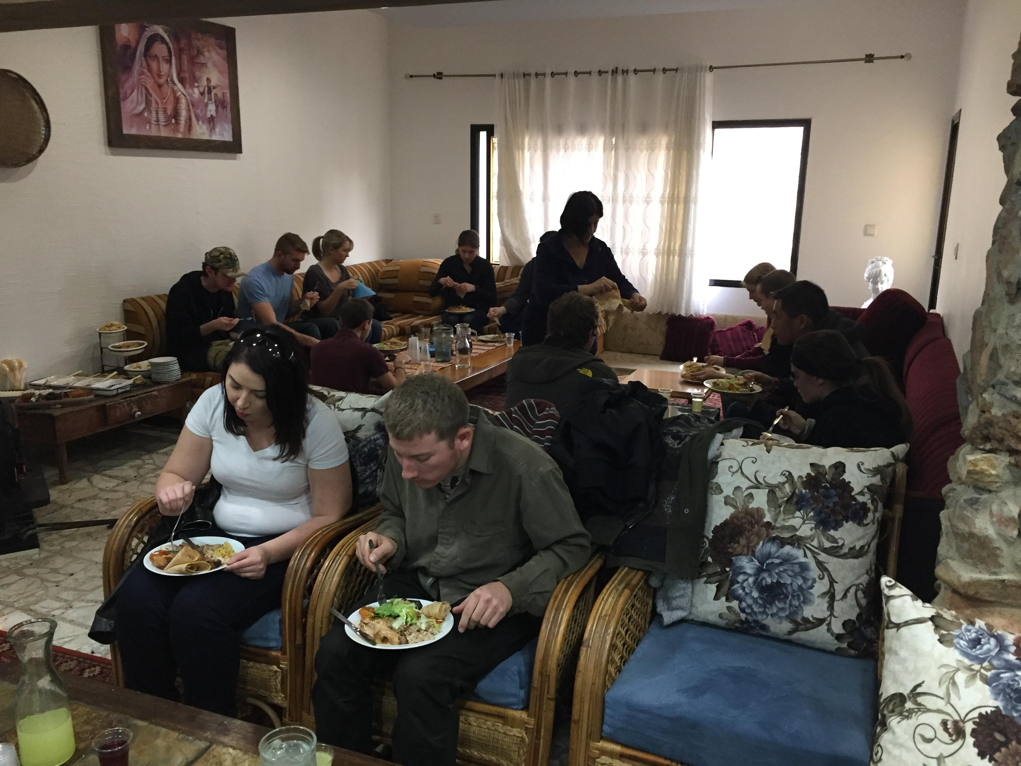 Druze Lunch at Magdal Shams