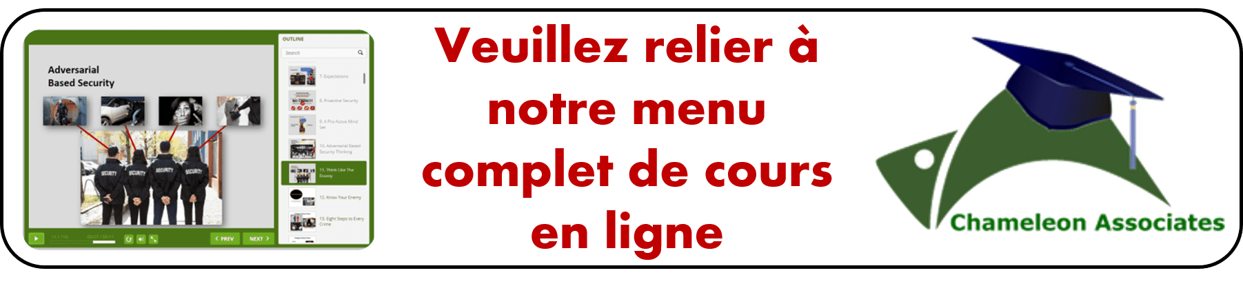 Return to online course in french