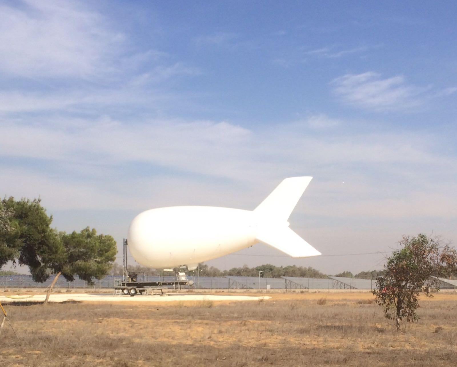 Sigint Baloon near Gaza Border