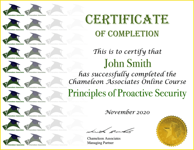 Certificate Example Predictive Profiling en Francais 2020