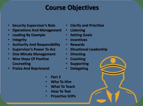 Security Supervisor Goals
