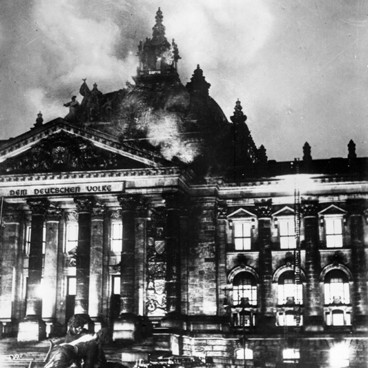 The burning of the German Parliament in 1933