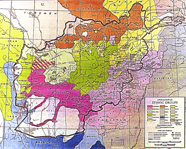 Afghanistan Tribe Maps